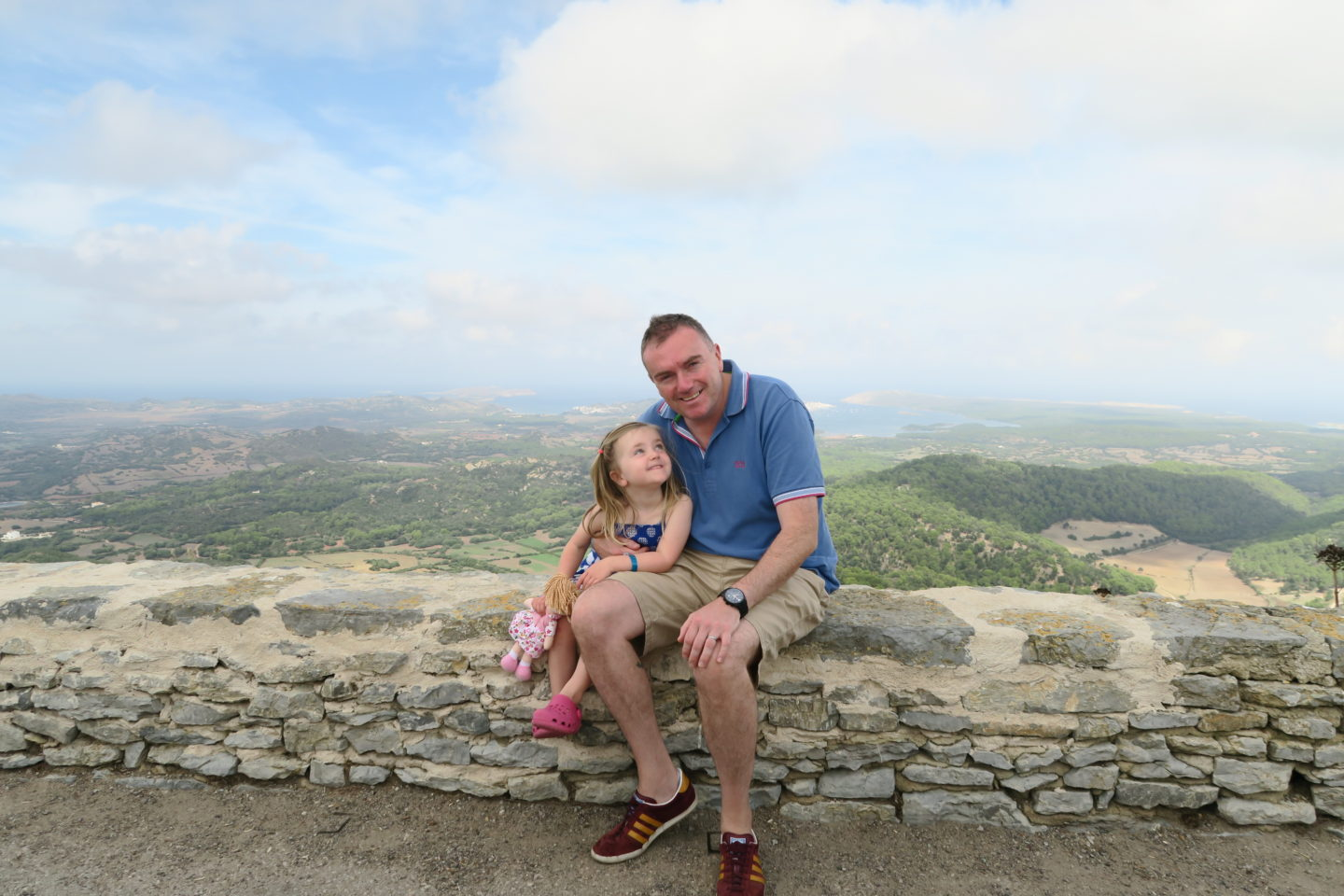 menorca, moment, father and daughter