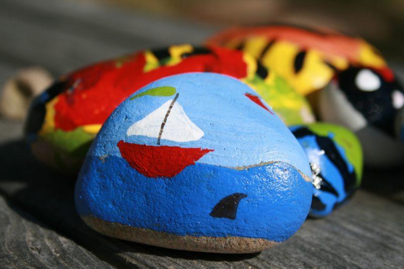 summer rock painting